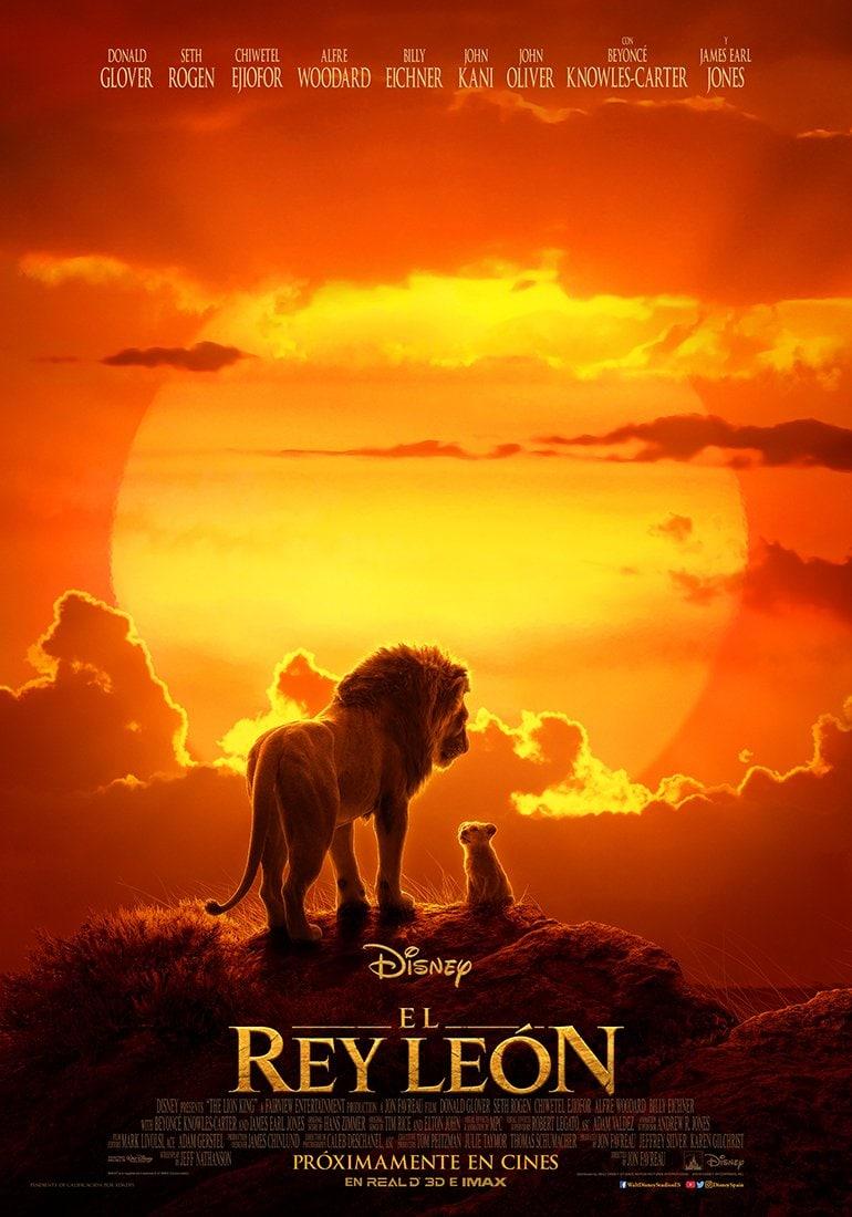 Póster oficial El rey león