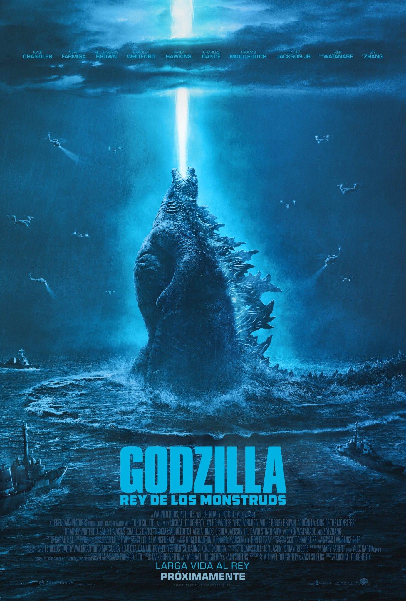 Póster oficial Godzilla: Rey de los monstruos