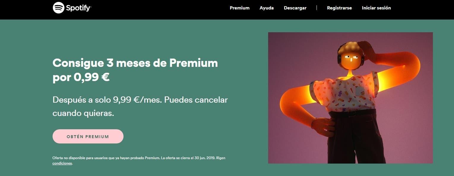 Spotify Premium por menos de 1 euro al mes