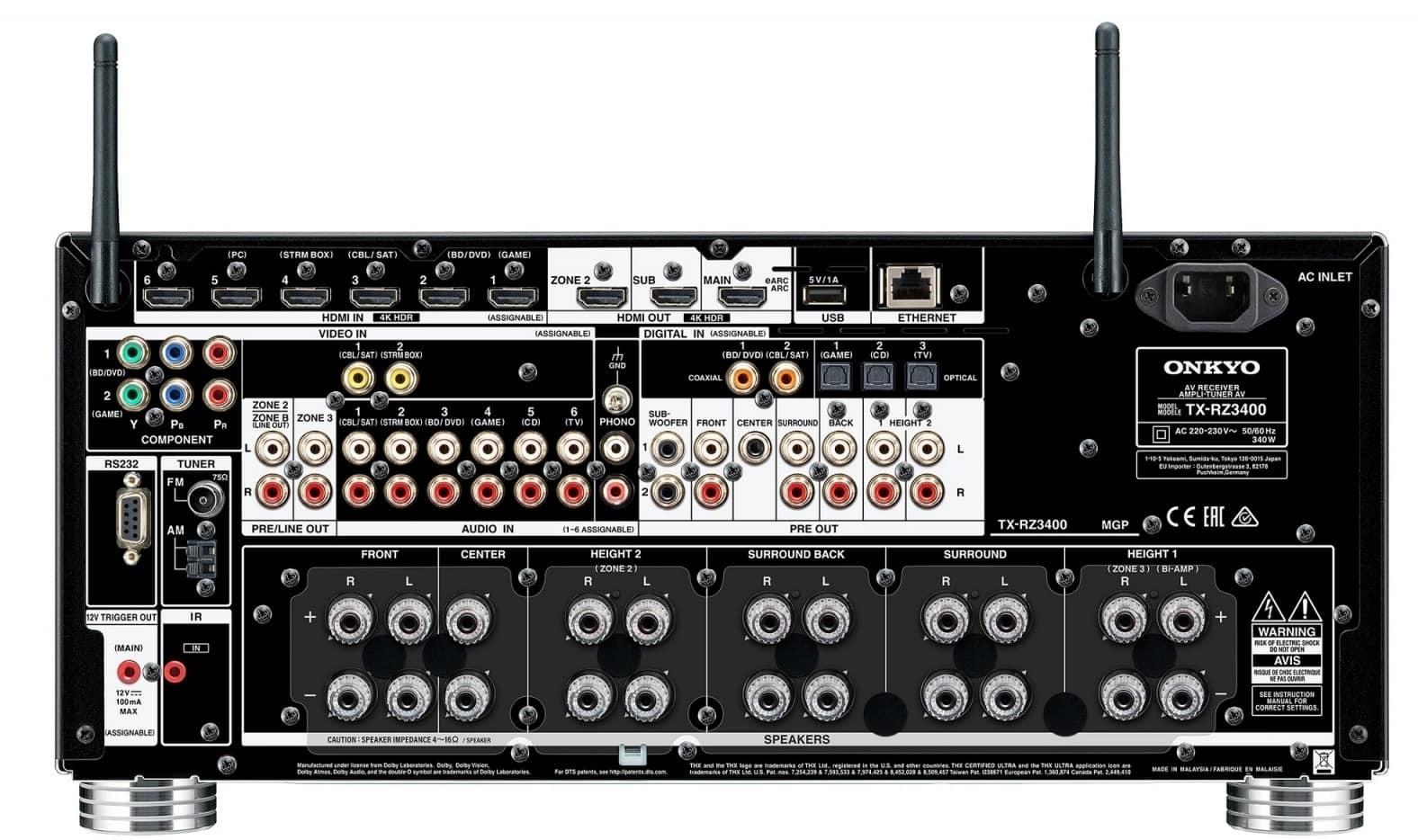 Receptor AV Onkyo TX-RZ3400