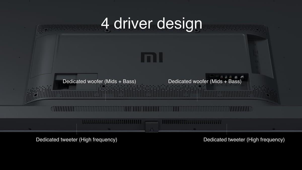 Altavoces de las nuevas Smart TV Xiaomi Mi TV 4X