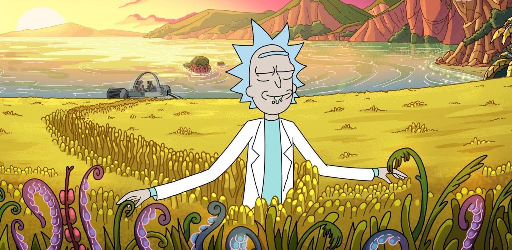 Escena de Rick y Morty