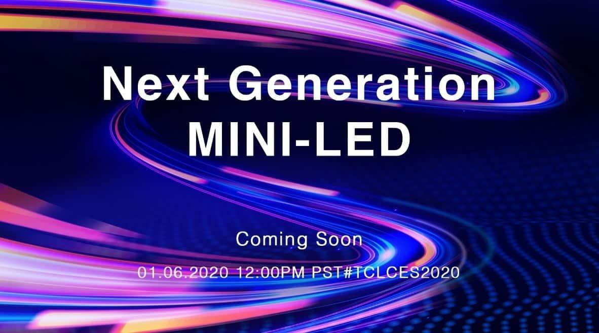 Invitación de TCL para ver su pantalla MiniLED