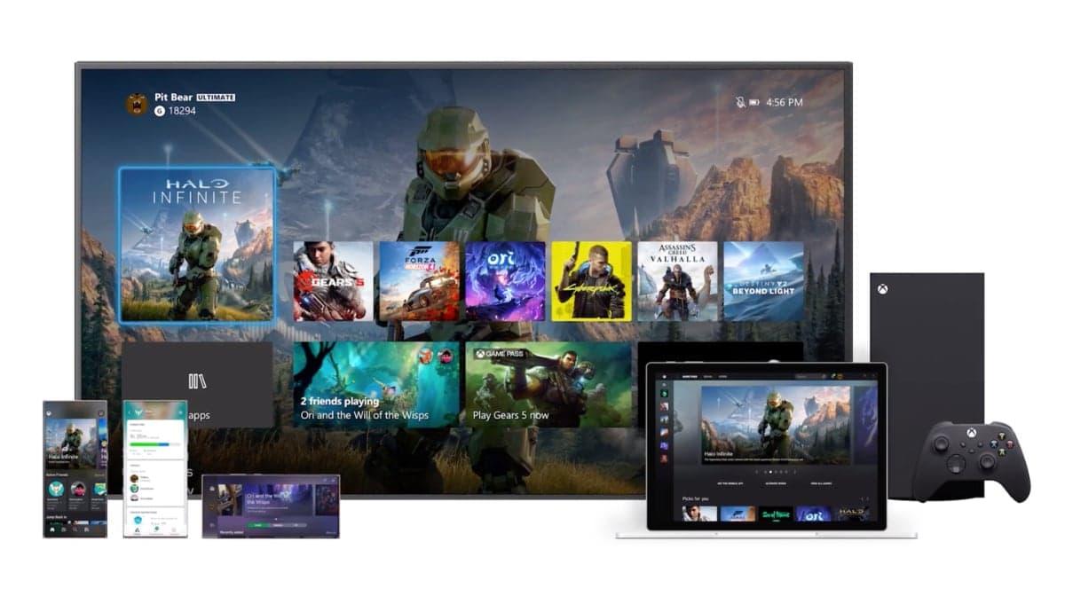 Xbox Series X interfaz