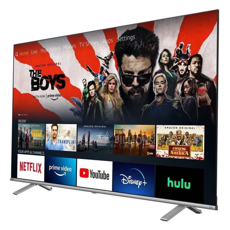 smart tv toshiba fire tv stick de lado